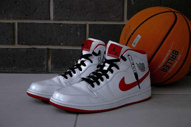 Basketball-Shoes-for-Flat-Feet-pair-of-white-air-jordan