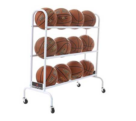 BSN Sports Ball Cart Wide Base