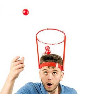 Basket Case Headband Hoop Game