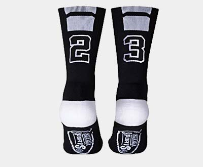 ChalkTalkSPORTS Custom Team Number Crew Socks