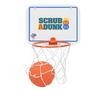 The Dunk Collection Scrub-a-Dunk-the Bathtub Basketball Hoop for Baby Ballers