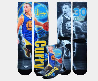Golden State Warriors NBA Drive Crew Kids Socks - Stephen Curry