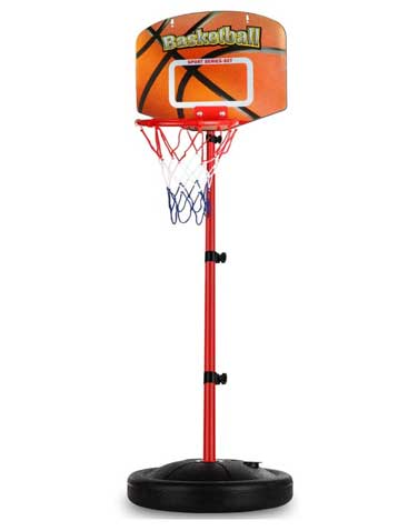 Mini Indoor Basketball Goal Toy with Ball Pump for Baby