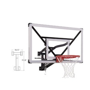 "Silverback NXT 54"" Wall Mounted Adjustabl Basketball Hoop"
