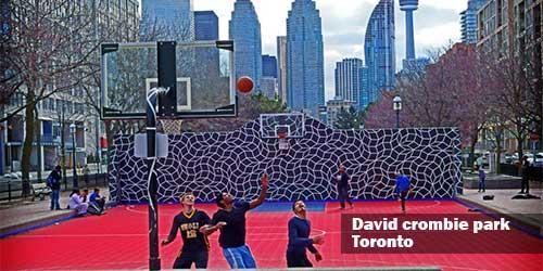 Toronto Canada Outdoor Basketball Court